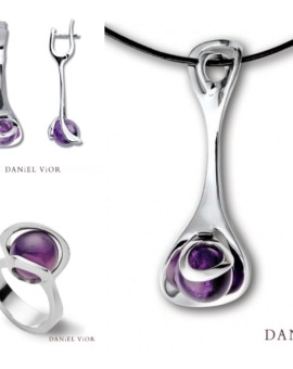 Oblade Amethyst Handmade Silver Collection by Daniel Vior