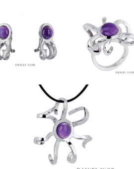 Medusa Silver Handmade Amethyst Collection by Daniel Vior