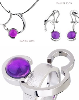 Arcs Silver Handmade Amethyst Collection by Daniel Vior