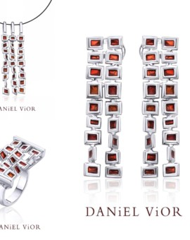 Cuadros Silver Handmade Red Enamel Collection by Daniel Vior