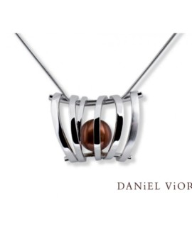 Asir Handmade Silver Brown Pearl Necklace by Daniel Vior