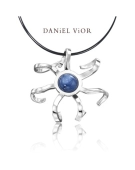 Medusa Silver Handmade Disthene Necklace by Daniel Vior