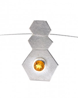 Roku Silver Handmade Necklace Natural Citrine Eugen Steier