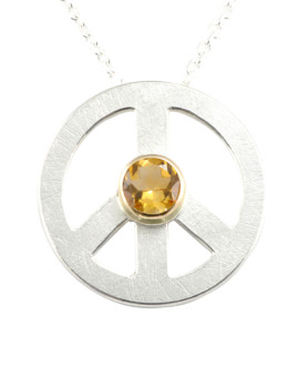 Peace Silver Handmade Necklace Citrine Eugen Steier