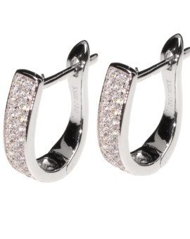 Agatha Hoop White Gold Earrings Joubi London